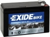 Exide Bike AGM12-7F, 12V, 7Ah
